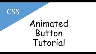 css animated button tutorial