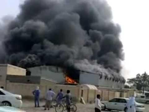 Descon Qatar Al-Khor Camp on fire 10th Jan, 2010.wmv