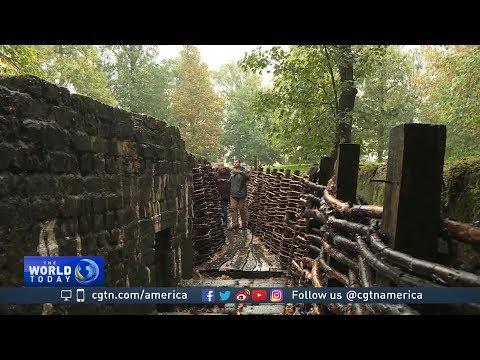 Historians restore World War I trenches in Belgium