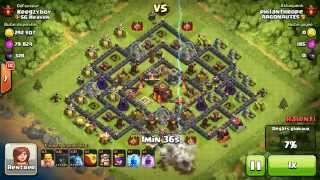 BM083 Balloons and Minions Strategy against champion level opponent Clash of Clans CoC