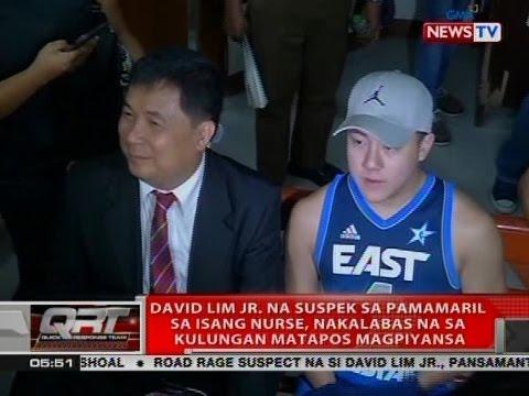 David Lim Jr. na suspek sa pamamaril sa isang nurse, nakalabas na sa kulungan matapos magpiyansa