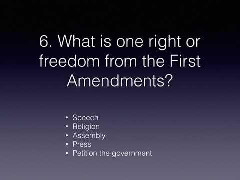 Citizenship Test Question Explanation In Gujarati (American Government) Question 1- 12