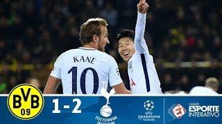 Melhores Momentos - Borussia Dortmund 1 x 2 Tottenham - Champions League (21/11/2017)