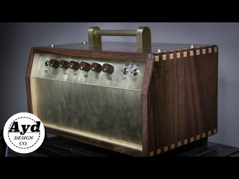 Custom Guitar Amp Cabinet Build - Walnut & Brass | DIY Build
