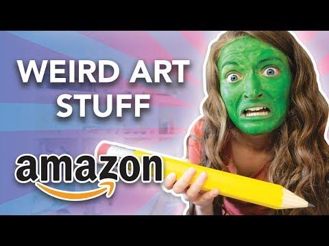 TESTING THE WEIRDEST AMAZON ART SUPPLIES!