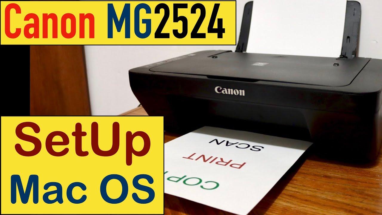 Canon PIXMA MG20 SetUp Mac OS