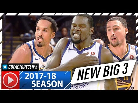 Kevin Durant, Shaun Livingston & Klay Thompson NEW BIG 3 Highlights vs Magic (2017.11.13) - NO CURRY