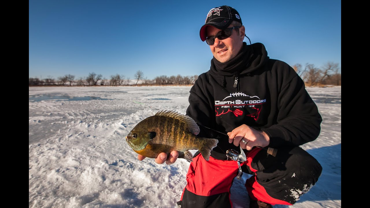 webster south dakota ice fishing panfish in depth