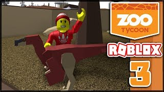 I STOLE AN ELEPHANT AND CAUGHT A RAPTOR!!! -Roblox Zoo Tycoon #3