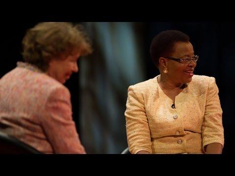 Ann Cotton interviewing Graça Machel at the Skoll Awards For Social Entrepreneurship - #SkollWF 2015