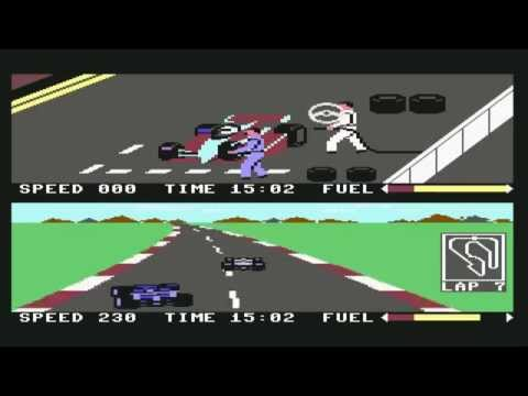 Commodore C64  Pit Stop 2 Longplay
