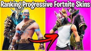 RANKING PROGRESSIVE FORTNITE SKINS FROM WORST TO BEST!