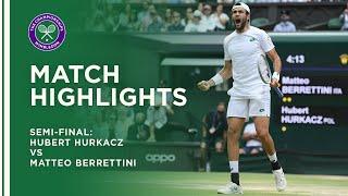 Hubert Hurkacz vs Matteo Berrettini | Semi-Final Highlights
