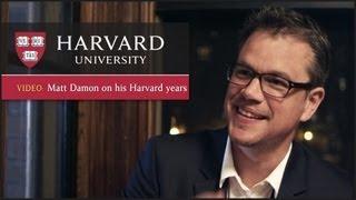 Oscar winner Matt Damon on his Harvard years