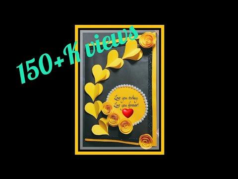 Farewell Card Tutorial Ll Birthday Card Ll Handmade Greeting Ll Valentine Card Ll Crafts Craze