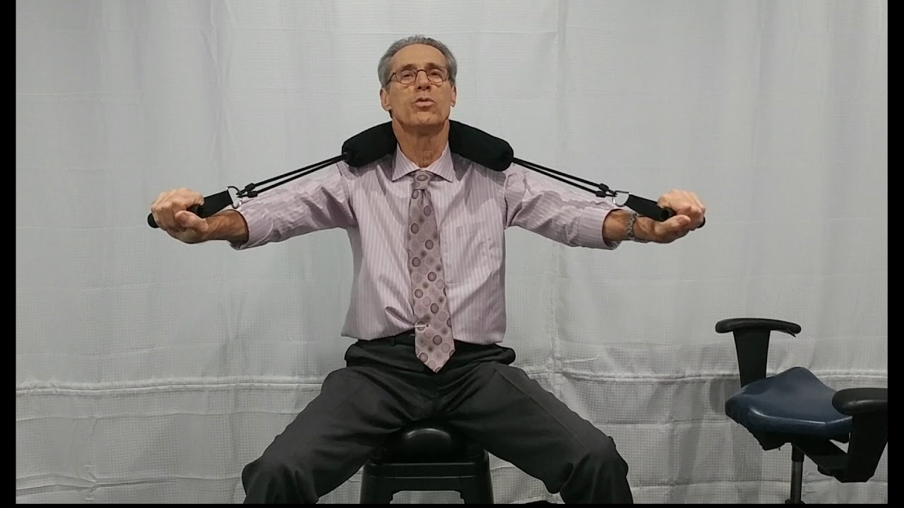 portable wobble chair exercises best chairs inc ferdinand indiana seat with the neck fulcrum youtube