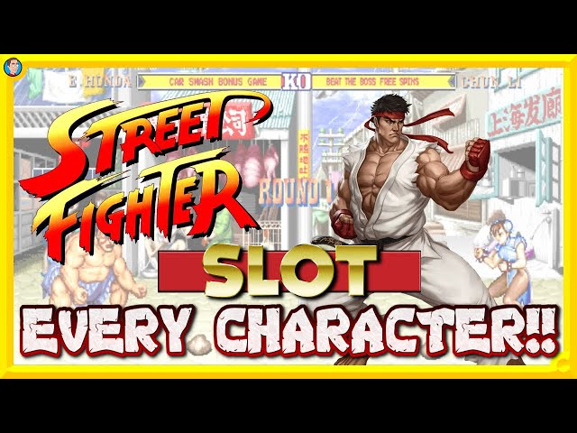 EVERY FIGHTER on Street Fighter 2 Slot!!!