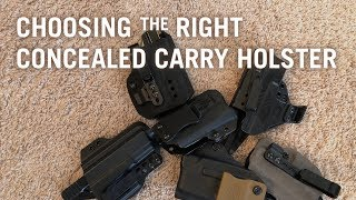 Choosing the Right Concealed Carry Holster
