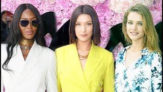 Звезды на показе Dior в Париже 2018 - Наталья Водянова, Наоми Кэмпбелл, Белла Хадид и др