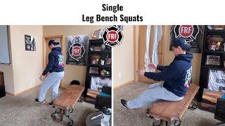 Single Leg Bench Stand Ups