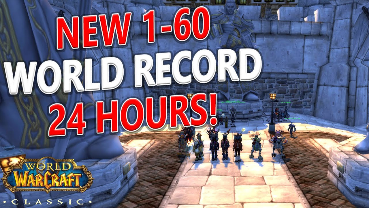 Wow Classic 1 60 In 2 Days 16 Hours Powerleveling Challenge For Charity Youtube