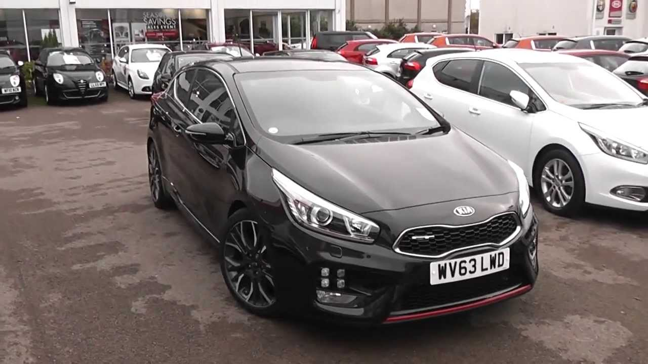 Used car kia pro ceed gt tech phantom black wv63lwd wessex garages feeder rd bristol youtube