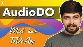 An interesting story behind AudioDO app