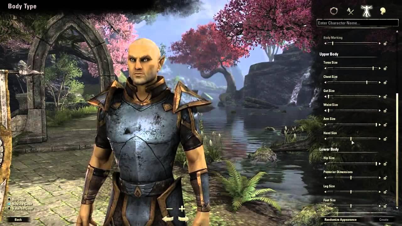 The Elder Scrolls Online Character Creation