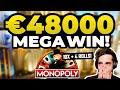 MONOPOLY LIVE - €48000 LIVE CASINO BIG WIN (10X + 4 ROLLS)