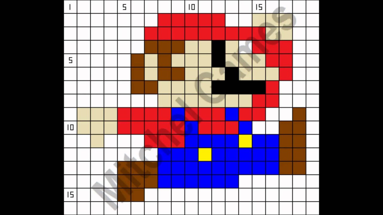 Minecraft mario bros mario 19x16 pixel template youtube minecraft mario bros mario 19x16 pixel template pronofoot35fo Image collections