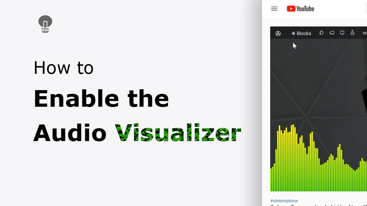 How To Enable The Audio Visualizer On Youtube And Other Html5 Video Websites Youtube