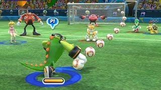 Mario and Sonic at The Rio 2016 Olympic Games Football Vector vs Sonic , Wario vs Yoshi