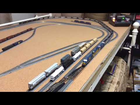 Jerry's Z Scale, Dual Trains Freight Car Operations