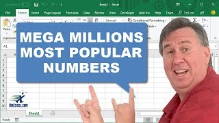 Learn Excel - Mega Millions Most Popular Numbers - Podcast 1911