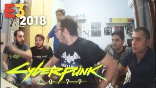 Cyberpunk 2077 LIVE Reaction - E3 2018 MICROSOFT