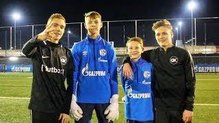 13 Jährige FC SCHALKE 04 Jugendspieler vs. Germankickerz - Ultimative Fußball Challenges