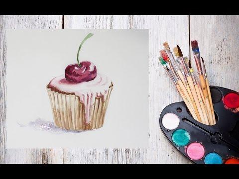 Видео уроки рисования акварелью