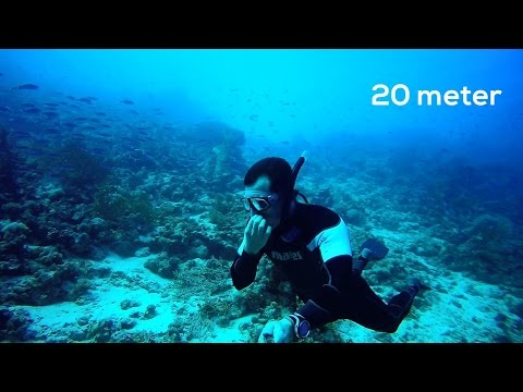 unexpected 20 meter freedive