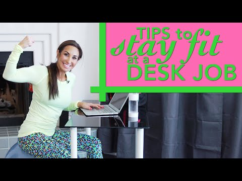 Tips to Stay FIT at a Desk Job | Natalie Jill