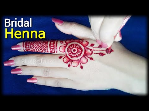 Bridal Full Hand Floral Mehndi Design   Most Attractive Shaded Bridal Red Henna Design Tuitorial   thumbnail