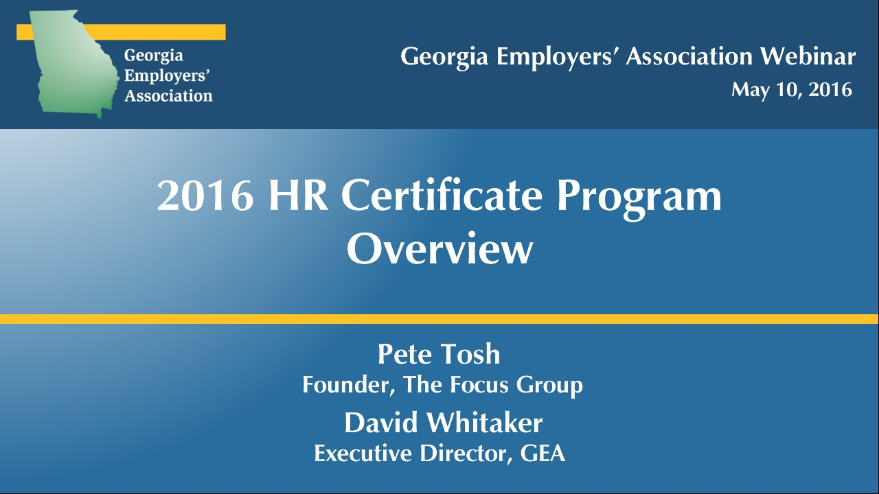 2016 hr certificate program overview may 10 2016 youtube 2016 hr certificate program overview may 10 2016 1betcityfo Images