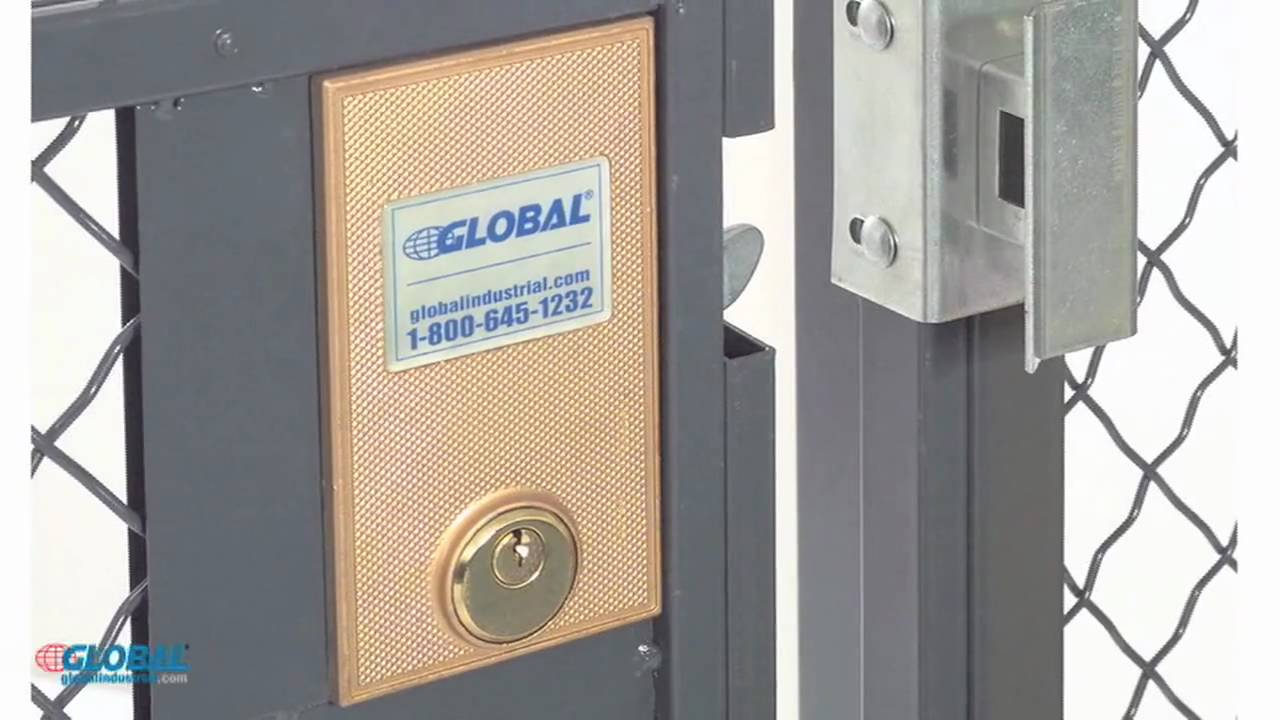 Wire Mesh Security Cage | Globalindustrial Com Wire Mesh Security Partitions Youtube