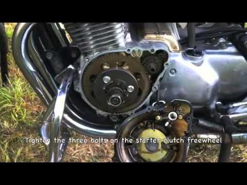 honda cb knocking sound fix starter clutch freewhel bolts youtube