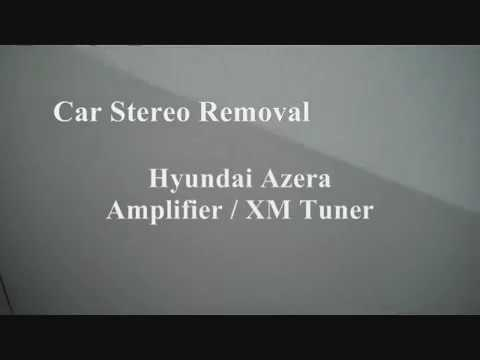 2008 hyundai santa fe wiring diagram dual battery system azera jbl amplifier and xm receiver removal youtube