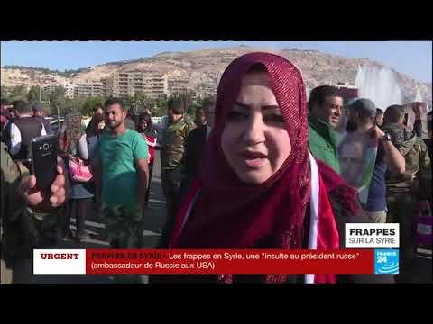 Les réactions syriennes et russes après les frappes en Syrie