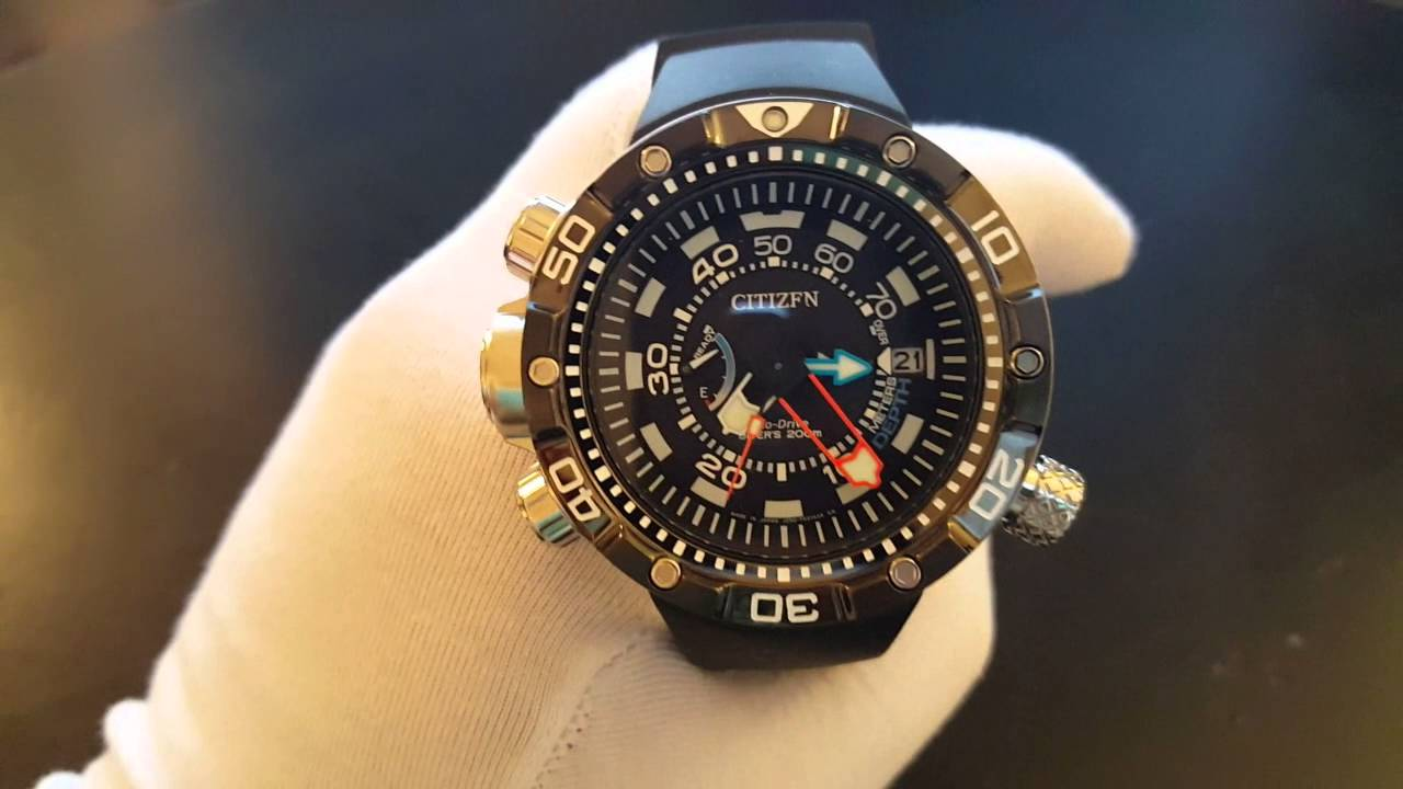 6965f4f4f330 CITIZEN Eco Drive Promaster Aqualand Depth Meter BN2024 05E - YouTube