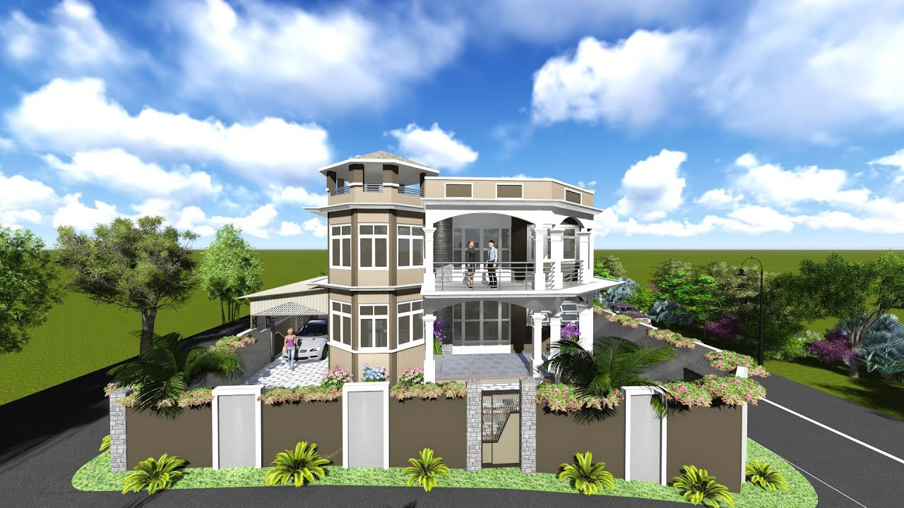 3d house design verdun mauritius youtube for Create house design 3d