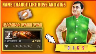 How to name change in free fire in stylish font like #░J░I░G░S░  #global player