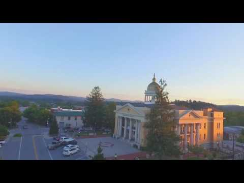 Aerial Main Street  Hendersonville North Carolina