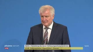 Vorstellung des neuen Verfassungsschutzpräsidenten Thomas Haldenwang am 15.11.18